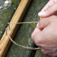 Stand bracelets bijoux en fibres vegetales par La Voie Verte
