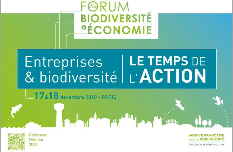 Forum Biodiversité et Économie les 17 et 18 décembre prochain