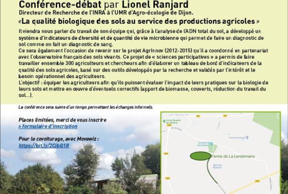 Conférence-débat à la Lendemaine (91) : utilisation de l'analyse de l'ADN total du sol en méthode de diagnostic du sol