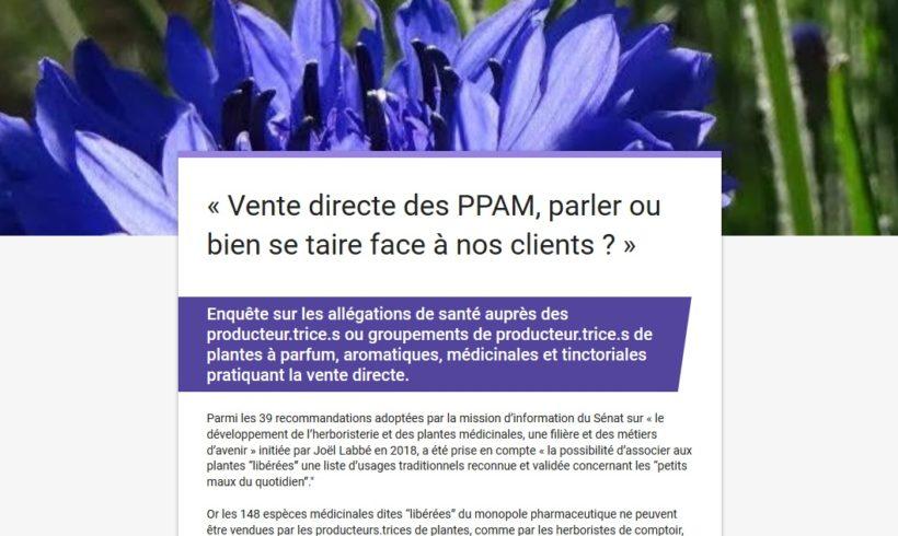 (Français) Enquête sur la vente directe de PPAM et les informations délivrées aux clients