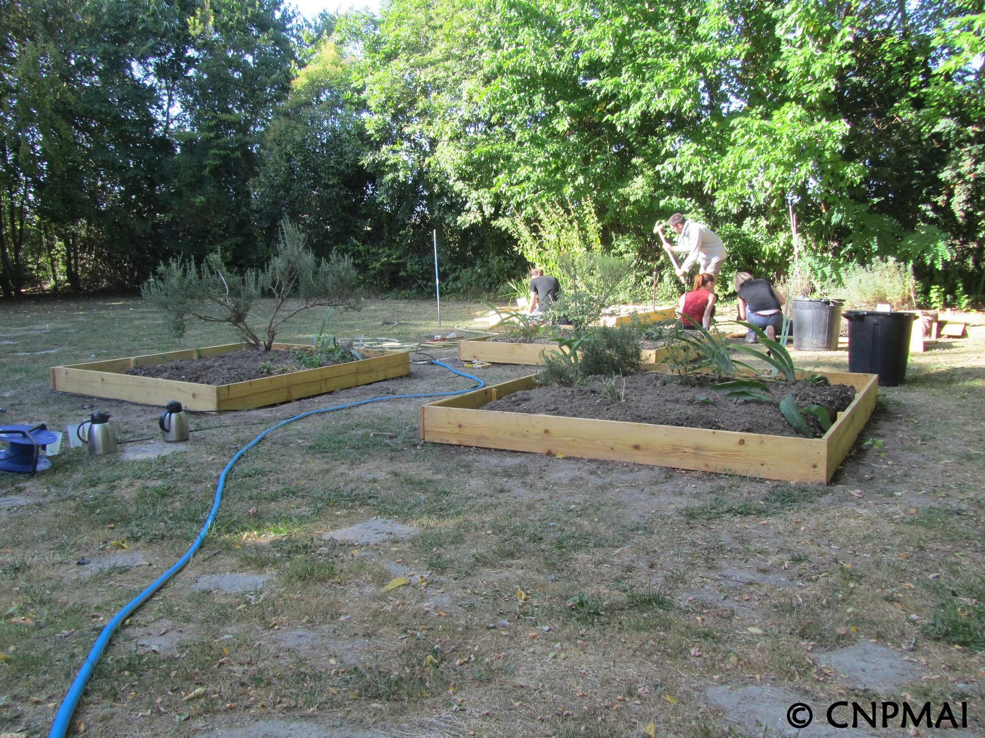 jardin pédagogique - chantier finalisé