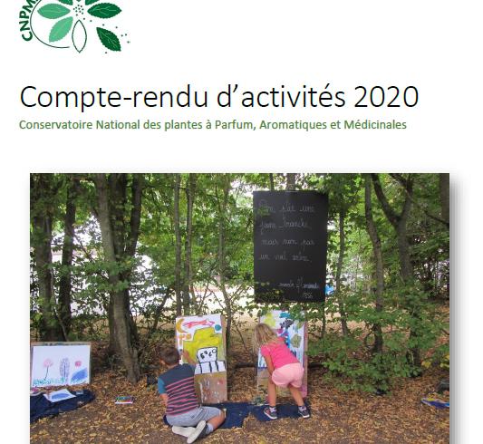 Le compte-rendu d'activités 2020 du Conservatoire vient de paraître !
