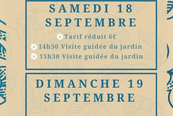 (Français) Journées du patrimoine : Samedi 18 et Dimanche 19 septembre 2021