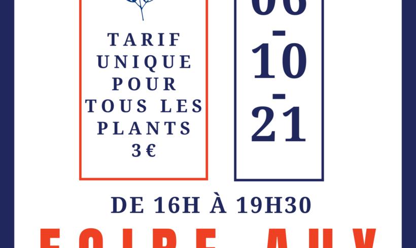 (Français) Foire aux plantes – mercredi 06 octobre de 16h à 19h30